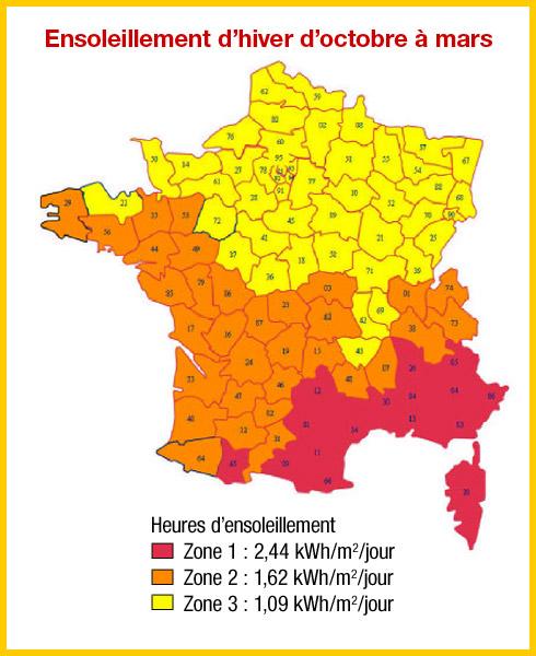 Fabuleux L'ensoleillement en France NK04